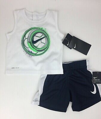 703ccddcb596 NEW NIKE BABY Boys Swoosh Graphic Tee & Shorts Set Choose Size and ...