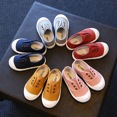 Cute Children Toddler Kids Canvas Sneakers Baby Boy Girl Soft Sole Crib Shoes