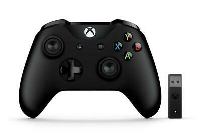 Microsoft Xbox Controller Con Wireless Adapter Gamepad Pc Per Xbox One Nero 4n7-