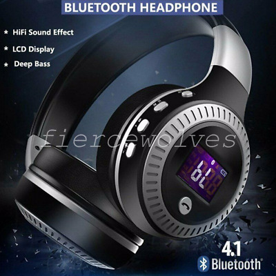 Wireless Bluetooth Headphones with Noise Cancelling Over-Ear Stereo Earphones CA
