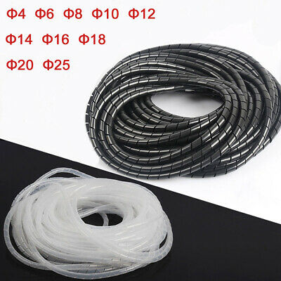 Spiral Cable Wrap Organising Wire Management 4mm - 25mm PC TV Office Home