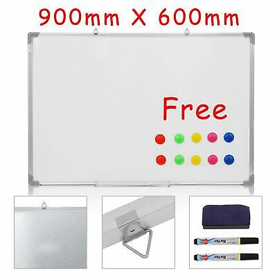 Whiteboard Magnetic Drawing Board & Eraser Dry Wipe   900 X 600 Mm