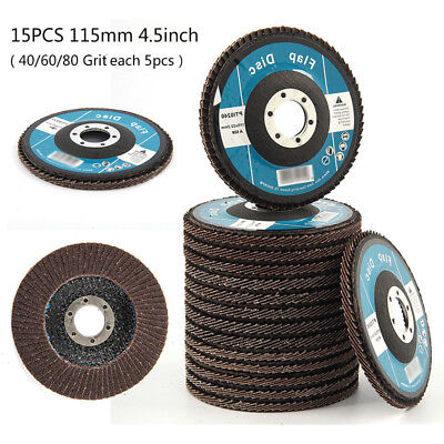 Flap Wheel 40/60/80 Grits Angle Grinder For Grinding&Sanding Discs Durable 15pcs