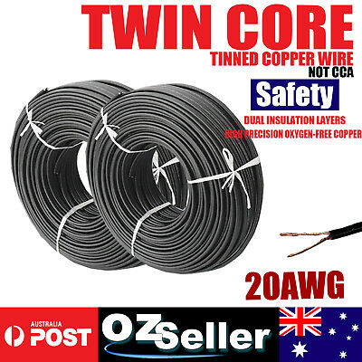 Twin Core Wire Sheath Electrical Copper Cable 20AWG Gauge Flexible 2 Conductor