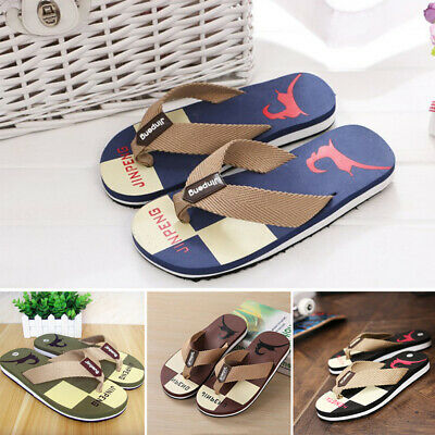 Men Fashion Loafer EVA Slippers Sandals Flip Flops Shoes Casual Beach Slippers