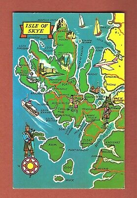 Unused Postcard  - Map Of Isle Of Skye