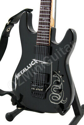 Miniature Guitar METALLICA Black Custom ESP & Strap