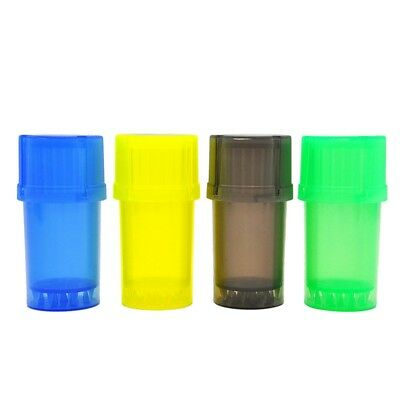 Dry Herb Grinder Smell Proof Stash Crusher Pot Plastic Rolling Air Tight New