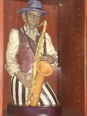 LLADRO #13576 PLAYING THE BLUES (Saxofonista). Limited edition.