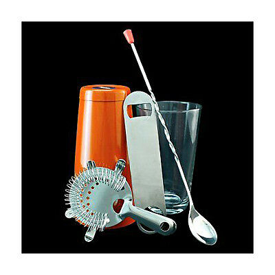 Equipment Bartender Bartender Shaker 5 Pieces Kit Cocktail Orange