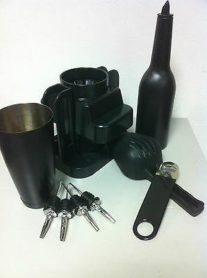 Set Barman Black Colour Odk Metal Pour Barman Bartender Tools