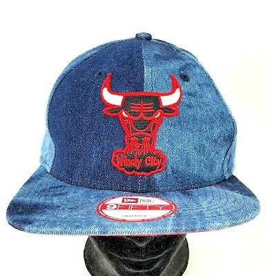 new styles 0712f 35cdc VTG The Chicago Bulls Hat New Era 9FIFTY Tie Dye Denim Jean Snapback  Original