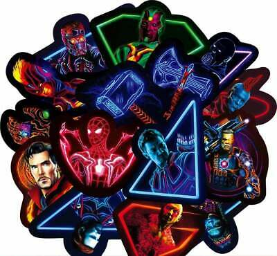 30pcs - Super Cool - Marvel Avengers Neon Sticker Packs - Non Repeating