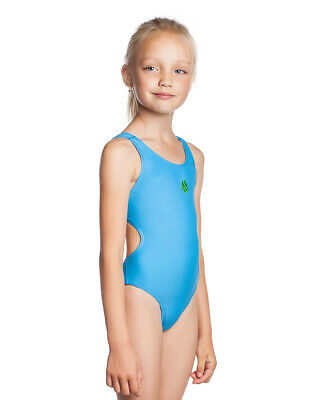 Mad Wave Elen One-Piece Swimsuit Swimming Diving Dive Swimwear Girls Azure XXS-S