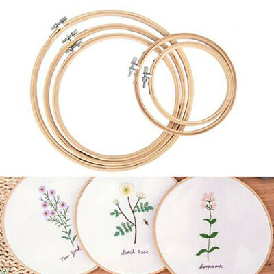 5pcs/set Embroidery Hoops Circle Cross Stitch Bamboo Ring Sewing Frame Art PTL