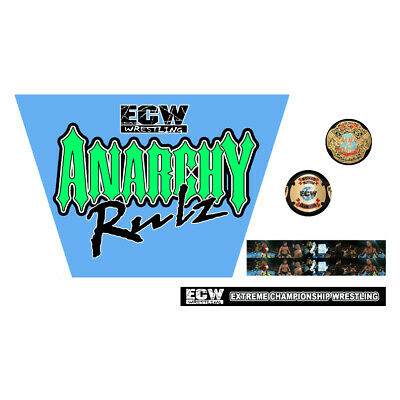 WWF/WWE Mattel Retro ECW Anarchy Rulz '99 Wrestling Custom Ring Stickers/Decals