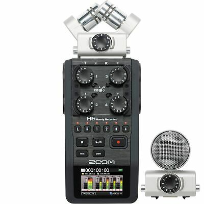 Zoom H6 Portable Handy Audio Recorder with Interchangeable Microphone System