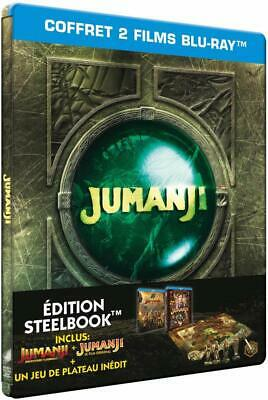 Jumanji Bienvenue Dans La Jungle Bluray 2 Films Steelbook  Neuf Sous Blister