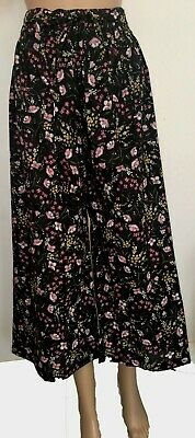 Zara (ex) Cropped Wide Leg Trouser for Girls | Ladies | Womens  - Size L.