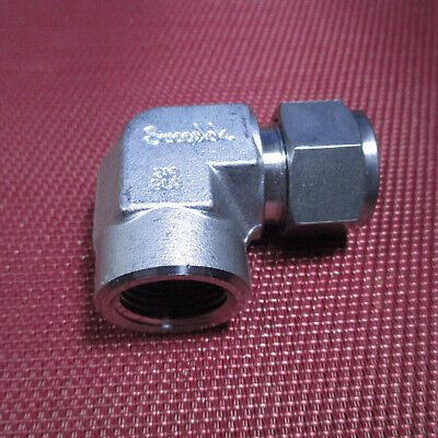Swagelok® 5/8 Tube OD x 1/2 NPT Pipe Female ELBOW CONNECTOR 316 Stainless Steel