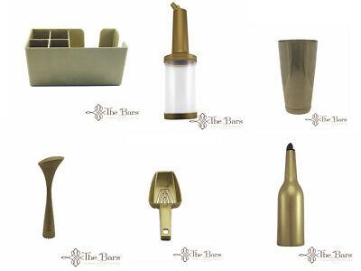 Equipment Bartender Bartender Kit Boston Shaker Gold 6 Pieces Flair Bottle