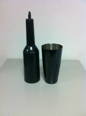 Flair Bottle Black Boston Tin Black Equipment Barman Bartender 01