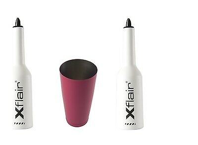 2 Flair Bottle Kit with White Tin Boston 28oz Balanced Fuchsia