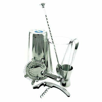 Equipment Bartender Bartender Shaker 7 Pieces Stainless Kit with Corkscrew