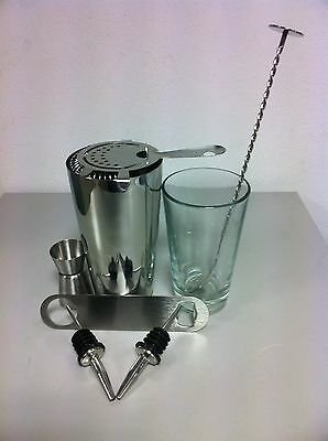 Equipment Bartender Bartender Shaker 8 Pieces Kit Inox Kit Barman