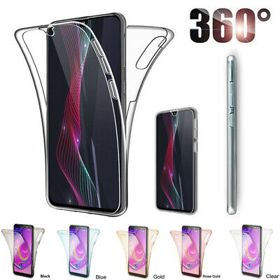 360° Double Shockproof Clear Soft TPU Case Cover For Samsung S8 S9  Plus S10E J4