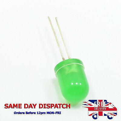 10mm Green Color LED Fog Light Emitting Diffused Head Diode 520-525nm G53
