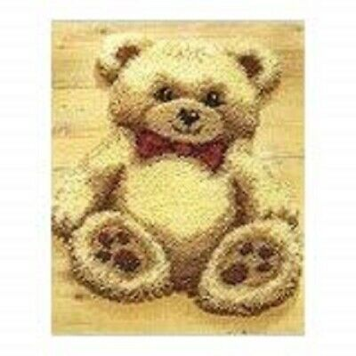 "Latch Hook Rug Kit""Cuddly Teddy"" 52x42cm Shaped"