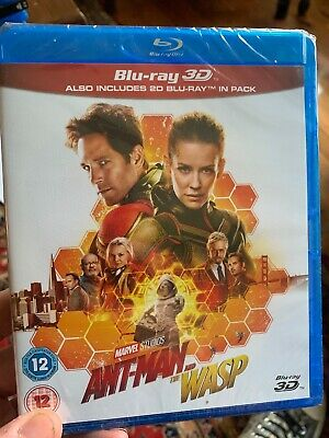 ANT-MAN AND THE WASP 3D and 2D BLU-RAY - REGION FREE ANTMAN BLURAY 2 DISCS NEW