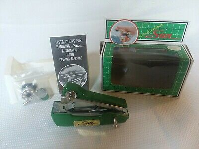 """Vintage Sun  4"""" Mini Sewing Machine Hand Held Automatic Feed Instruction"""