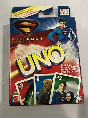 Superman Returns Themed UNO Family Card Game Special Edition Classic Play P7