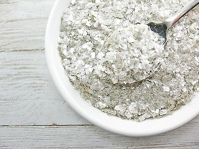 Vintage Style MICA Flakes Silver SNOW Flakes Crafts 1oz Glitter Christmas Supply