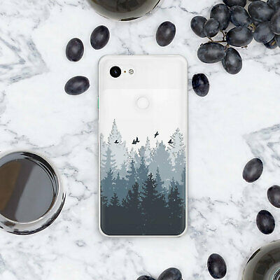 Nature Rubber Case For New Google Pixel XL 3 Silicone Forest Cover Pixel 2 XL