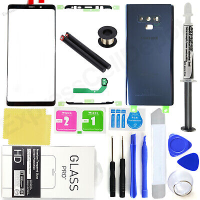 For Samsung Galaxy Note 9 N960 -Blue-Front Screen Glass Back Replacement Kit