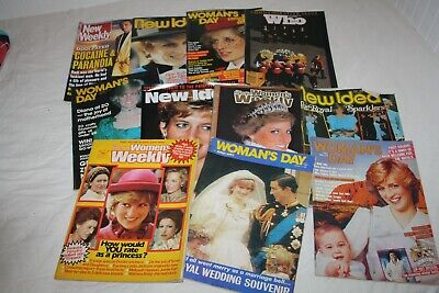 Princess Di Diana Royalty Cover  Magazines Huge Bulk lot # 2