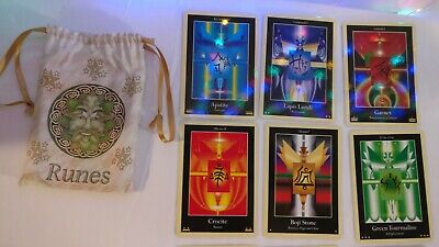 Crystal Oracle Deck In Green Man Bag Without Booklet   Free Shipping
