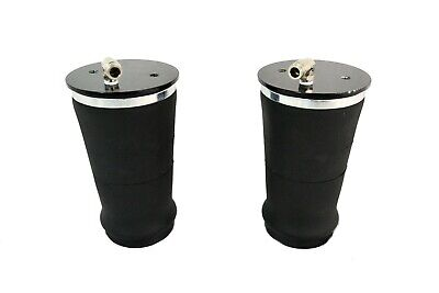 """2 tapered sleeve air bags single 3/8""""npt port air ride suspension rolled spring"""