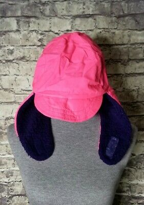 40f5c443e97a8e Vintage 80s 90s Columbia Ear Flap Trapper Hat Purple Pink USA Small Sherpa  Lined