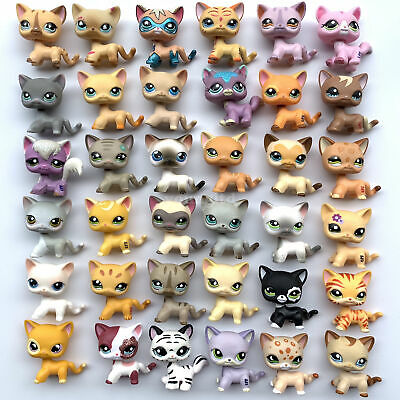 10Pcs/bag Littlest Pet Shop cats lot of LPS short hair cat RANDOM Girl's toy set