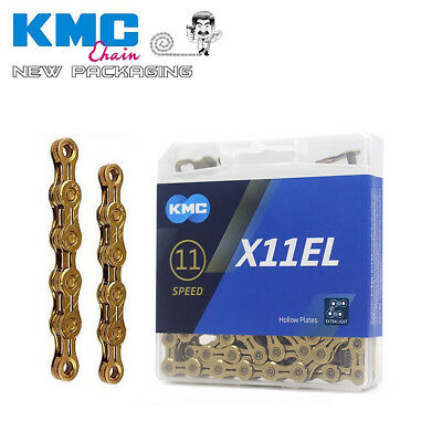 KMC Bike chain X11EL  Extra Light Gold Race Chains 11 Speed MTB Road 116 Links