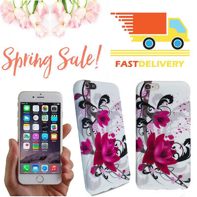25x Spring Summer Phone Case iPhone 6 Big Purple Flowers Inventory Sales NEW UK
