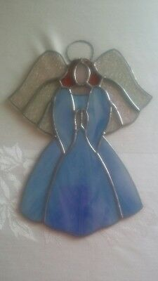 Large BLUE ANGEL Suncatcher Stained Glass