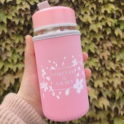 BANGTAN BOYS BTS Water Bottle With Fabric Cover Forver is ARMY SUGA V JINMIN