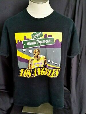 bbc3e175256 Los Angeles Lakers Kobe Bryant South Figueroa Street at Chick Hearn Ct  T-shirt