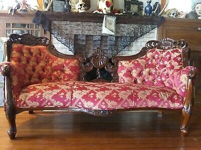 antique sofa couch nice upholstrey