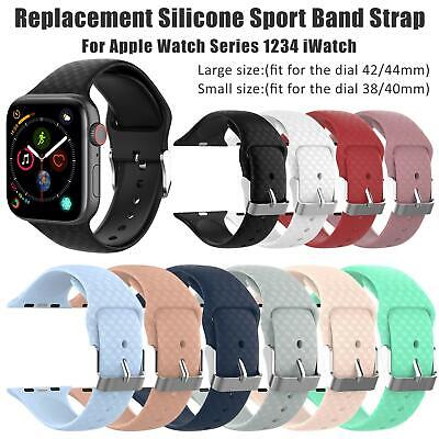 3D Silicone Wrist Band Sports Strap For Apple Watch 1/2/3/4 iWatch 38/42 40/44mm